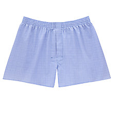 Buy Thomas Pink Felix Check Boxers, Blue/White Online at johnlewis.com