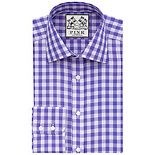 Buy Thomas Pink Plato Check Shirt, Lilac/Purple Online at johnlewis.com