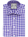 Thomas Pink Plato Check Shirt, Lilac/Purple