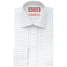 Buy Thomas Pink Belcher Square Print Shirt, White/Navy Online at johnlewis.com