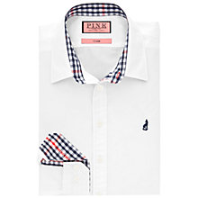 Buy Thomas Pink Calvaley Plain Shirt, White Online at johnlewis.com