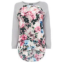Buy Warehouse Curve Hem Floral Jumper, Multi Online at johnlewis.com