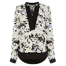 Buy Warehouse Wisteria Floral Blouse, Multi Online at johnlewis.com