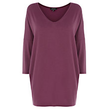 Buy Warehouse V Neck Drop Shoulder Top Online at johnlewis.com