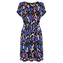 Buy Warehouse Painted Floral Print Dress, Multi Online at johnlewis.com