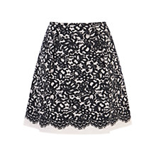 Buy Coast Sansa Lace Print Cotton Skirt, Black Online at johnlewis.com