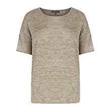 Buy Warehouse Sparkle Glitter T-Shirt, Gold Online at johnlewis.com