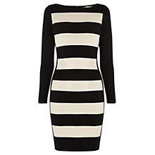 Buy Coast Tabbie Knit Dress, Black/White Online at johnlewis.com