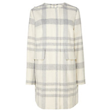 Buy Coast Liberty Check Coat, Ivory Online at johnlewis.com