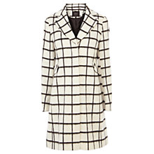 Buy Coast Bowery Check Coat, White/Black Online at johnlewis.com