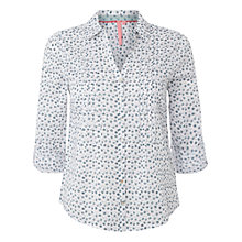 Buy White Stuff Long Boat Ditsy Shirt, Cloud White Online at johnlewis.com