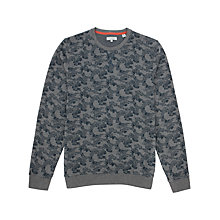 Buy Ted Baker Tramore Printed Sweatshirt, Teal Online at johnlewis.com