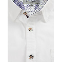 Buy Ted Baker Midnito Long Sleeve Shirt, White Online at johnlewis.com