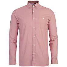 Buy Ted Baker Fine Stripe Bananza Shirt, Red Online at johnlewis.com