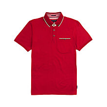 Buy Ted Baker Lotuz Button Down Polo Shirt, Red Online at johnlewis.com