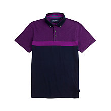 Buy Ted Baker Mesleep Polo Shirt, Navy Online at johnlewis.com