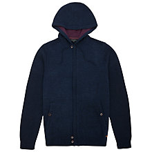 Buy Ted Baker Hexton Zip-Through Knitted Hoodie, Dark Blue Online at johnlewis.com