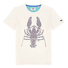 Buy Ted Baker Fiftee Graphic Lobster Print T-Shirt, Ecru Online at johnlewis.com