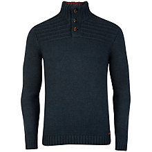 Buy Ted Baker Harston Funnel Neck Jumper, Teal Online at johnlewis.com