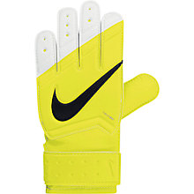 Buy Nike Junior Grip Goalkeeper Gloves, Volt Online at johnlewis.com