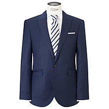 Buy John Lewis Tailored Fit Sharkskin Suit Jacket, French Blue Online at johnlewis.com