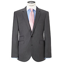 Buy John Lewis Super 100s Wool Silk Herringbone Tailored Suit Jacket, Grey Online at johnlewis.com