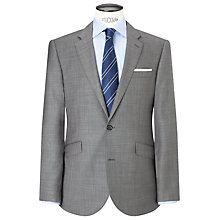 Buy John Lewis Sharkskin Wool Tailored Suit Jacket, Grey Online at johnlewis.com