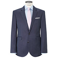 Buy John Lewis Pinhead Single Breasted Tailored Wool Suit Jacket, Blue Online at johnlewis.com