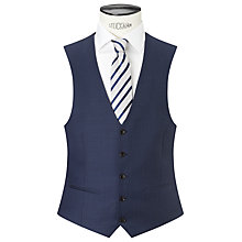 Buy John Lewis Tailored Fit Sharkskin Waistcoat, French Blue Online at johnlewis.com