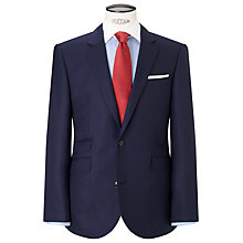 Buy John Lewis Hopsack Super 100s Wool Tailored Suit Jacket, Royal Online at johnlewis.com