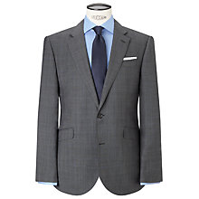 Buy John Lewis Super 100s Wool Prince of Wales Check Tailored Suit Jacket, Grey Online at johnlewis.com