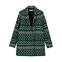 Buy Gerard Darel Print Top, Green Online at johnlewis.com