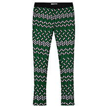 Buy Gerard Darel Alouette Jacquard Herringbone Trousers, Green Online at johnlewis.com