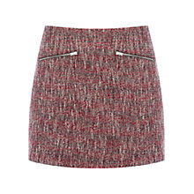 Buy Warehouse Sparkle Tweed Skirt, Red Pattern Online at johnlewis.com