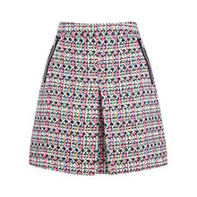 Buy Warehouse Fluro Print Tweed Skirt, Multi Online at johnlewis.com