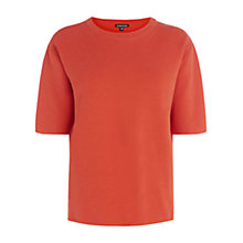 Buy Warehouse Milano Three-Quarter Sleeve Jumper, Orange Online at johnlewis.com