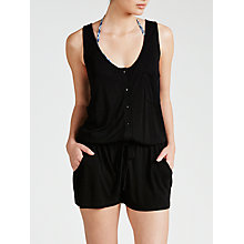 Buy John Lewis Jersey Beach Playsuit, Black Online at johnlewis.com