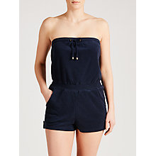 Buy John Lewis Towelling Playsuit, Navy Online at johnlewis.com