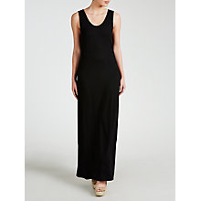 Buy John Lewis Jersey Beach Maxi Dress, Black Online at johnlewis.com