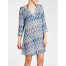 Buy John Lewis Ikat Print Kaftan, Ocean Blue Online at johnlewis.com