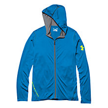 Buy Under Armour Long Sleeve Full-Zip Hoodie, Blue Online at johnlewis.com