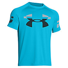Buy Under Armour Sleeve Hit T-Shirt, Island Blue Online at johnlewis.com