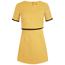 Buy Miss Selfridge Petite Overlay Dress, Ochre Online at johnlewis.com