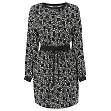 Buy Warehouse Graphic Print Dress, Black Online at johnlewis.com