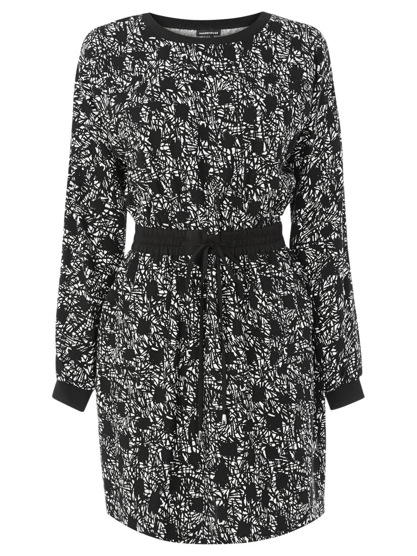 warehouse graphic print dress black, warehouse, graphic, print, dress, black, women, womens dresses, special offers, womenswear offers, womens dresses offers, warehouse (copy), 1812242