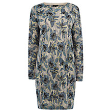 Buy Warehouse Scratchy Floral Print Cotton Dress, Multi Online at johnlewis.com