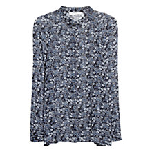 Buy Mango Floral Print Blouse, Black Online at johnlewis.com