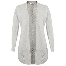 Buy Miss Selfridge Cable Back Duster Cardigan, Grey Online at johnlewis.com