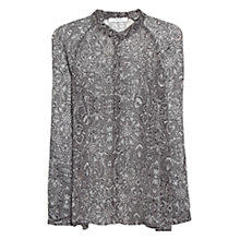 Buy Mango Printed Chiffon Blouse, Natural White Online at johnlewis.com