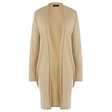 Buy Warehouse Side Split Cotton Cardigan, Camel Online at johnlewis.com